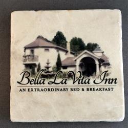 Tumbled Stone Coasters - Italian Botticino Marble with full color imprint