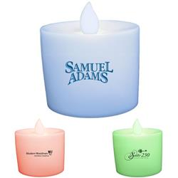 Votive Flickering LED Candles with custom imprint.