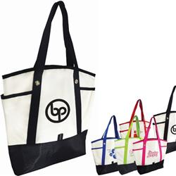 Wallace Tote Bag in PolyCanvas with Grommets and custom imprint