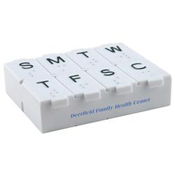 Weekly Promotional Pill Box with Cutter, Custom Pill Boxes
