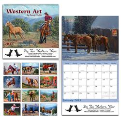 Promotional Monthly Calendars, Custom Wall Calendar with Western Art