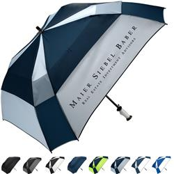 WindPro® Gellas® Vented Auto Open Square Golf Umbrella with custom imprint