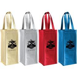 Metallic Non Woven Wine Gift Bags