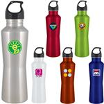 24 oz. h2go Stainless Steel Athans Sports Bottles