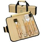 5 Pc. Jr. Bamboo BBQ Roll-Up Sets