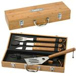 BBQ 5 Piece Deluxe Bamboo Sets in Bamboo case