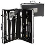 Custom 7 Pc. Delta BBQ Sets with BBQ Fork Thermometer
