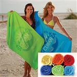 "Midweight Tone on Tone Custom Beach Towel 30"" x 60"" 10lbs/doz"