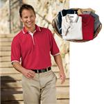 Port Authority Silk Touch Sport Shirts with Stripe Trim
