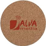 Round Cork Custom Coasters - 3.5 inch Diameter