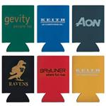 Slicker Kan Leather-Like Promotional Coolers.  Koozie can cooler style.