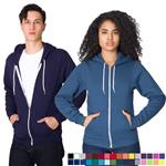 American Apparel Flex Fleece Zip Hoodie with custom logo