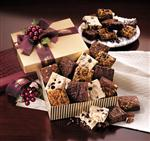Custom corporate gift of brownies with logo on box or ribbon, custom brownies