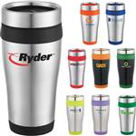 16oz Stainless Steel Custom Tumbler, Promotional Travel Mug - Carmel