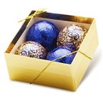 Chocolate Ornaments - Gold Gift Box