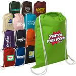 LT-4296  Cotton String-A-Sling Backpack – 5 Oz. Cotton Drawstring Backpacks