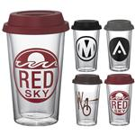 Custom Glass Tumblers with Lids
