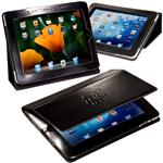 Custom Leather iPad Case and Stand, Promotional Tablet Stand and Case