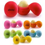 EOS Lip Balm Balls with a custom imprint or logo