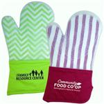 Frosted Silicone Oven Mitts imprinted with logo