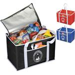 Game Day 24 Pack Cooler Bags with custom imprint.  Promotional cooler.