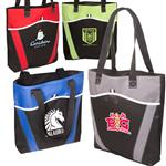 Horizon Custom Tote Bag in poly canvas with your custom logo