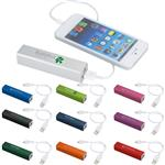 Jolt Charger Power Bank in a metal case for iPhones and Smart Phones
