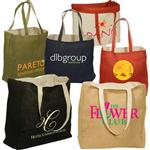Custom Jute & Cotton Tote Bags - reversible