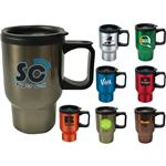 Laguna Stainless 16 oz. Basic Travel Mugs with plastic liner