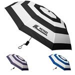 Nautical Striped Umbrellas with a 44 inch arc, auto open and folding.  Promotional umbrella.