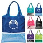 Piazza Folding Shopper Tote Bags with Custom Imprint.  Promotional Folding Totes.