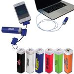 Power Bank Emergency Battery Charger with custom imprint.  A great custom battery charger.