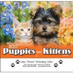 Puppies and Kittens Wall Calendar
