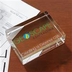 Rectangle Crystal Paperweight Award Customized