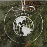 Circle Glass Ornament