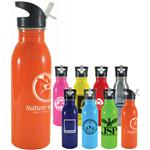 Sprint Stainless Steel Sport Bottle with flip up sipper and custom printed logo by Adco Marketing.