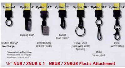 Lanyard Attachments in Plastic