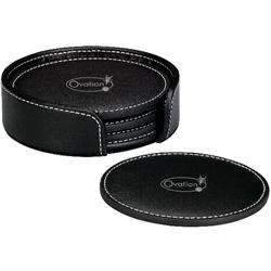 Custom Leather Coaster Set Coasters Mugs Drinkware Adco Marketing Promotional Items Modern Home Decor from adcomarketing.com