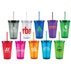 Freedom16 oz. Acrylic Tumblers with Straw