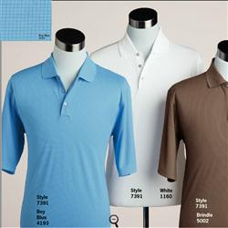 Pebble Beach Grid Textured Polo Shirts