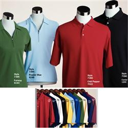 Custom Pebble Beach Solid Pique Polo Shirts