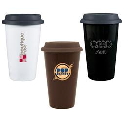 11oz Terra Paper Cup Look Travel Mug