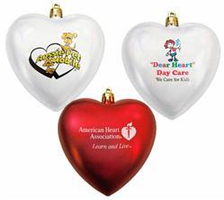 heart shaped shatteproof custom ornament custom ornaments