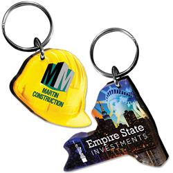Full Color Laser-Cut Acrylic Key Tags 3 Square Inches