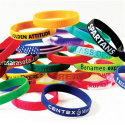 Custom Wrist Band Silicone Awareness Bracelets 1 2 Inch Wristbands