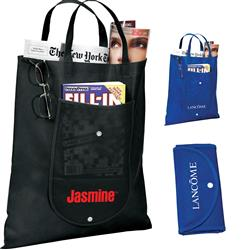 bd2526e60379 Folding Custom Tote Bags - Promotional Grocery Totes by Adco Marketing