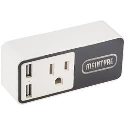 Wifi Smart Plug with USB Output & Light Up Logo - For Alexa or Google Home