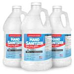 1 Gallon Hand Sanitizer Gel Refill Bottles - Made in USA with 70% by volume Ethyl Alcohol