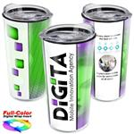18 oz. Full-Color Clear Lid Acrylic Tumbler