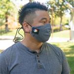 4 Layered Cotton Face Mask with adjustable head loop and nose wire